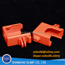 Orange PBT Housing plastic toy parts by injection moulding