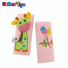 BobearToys promotional plush giraffe seat belt cover stretchy baby car seat covers best toy stores safe toys for newborns