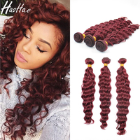 Double Drawn Full Cuticle Bundle 99j human hair weft Raw Virgin peruvian human hair