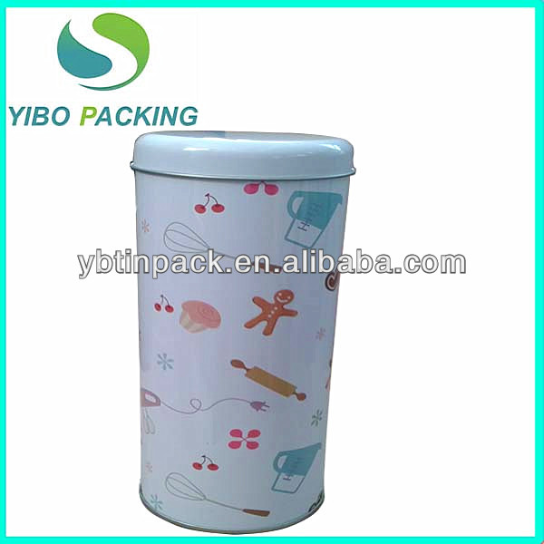 custom printed round food grade tin containers,tall tin can for cookies