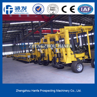 Best for your use!drilling rigs manufacturer!stone killer!!HF-3 hydraulic trailer-type drilling machine for soil and hard rocks