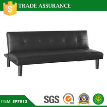 Classic Furniture Living Room Black Pu Leather Sofa Bed
