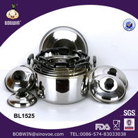 Many size stainless steel cookware set stainless stock pot