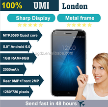 "Rugged Anti-Fall Umi London 3G Smartphone MTK6580 Android 6.0 Quad Core 5.0"" 8.0MP 2050mAh 1GB RAM 8GB ROM Mobile Phone"