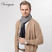 2017 Winter Men Scarf Houndstooth Cashmere Shawl Business picking warm scarf for men
