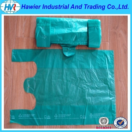 HDPE &LDPE PLASTIC biodegradable vest carrier bags