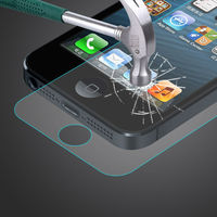 Magao colored tempered glass screen protector for iphone 5