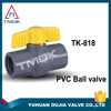 China price double union PVC plastic ball valve for water and gas high pressure in OUJIA VALVE FCTORY