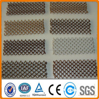 Anping factory Bronze Metal Mesh Fabric / Metal Curtain