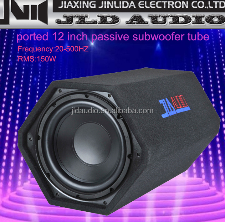 ported 12 inch passive subwoofer tube ,car subwoofer enclosure from JLD audio