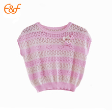 Baby Handmade Crochet Summer Sweater With Short Sleeves