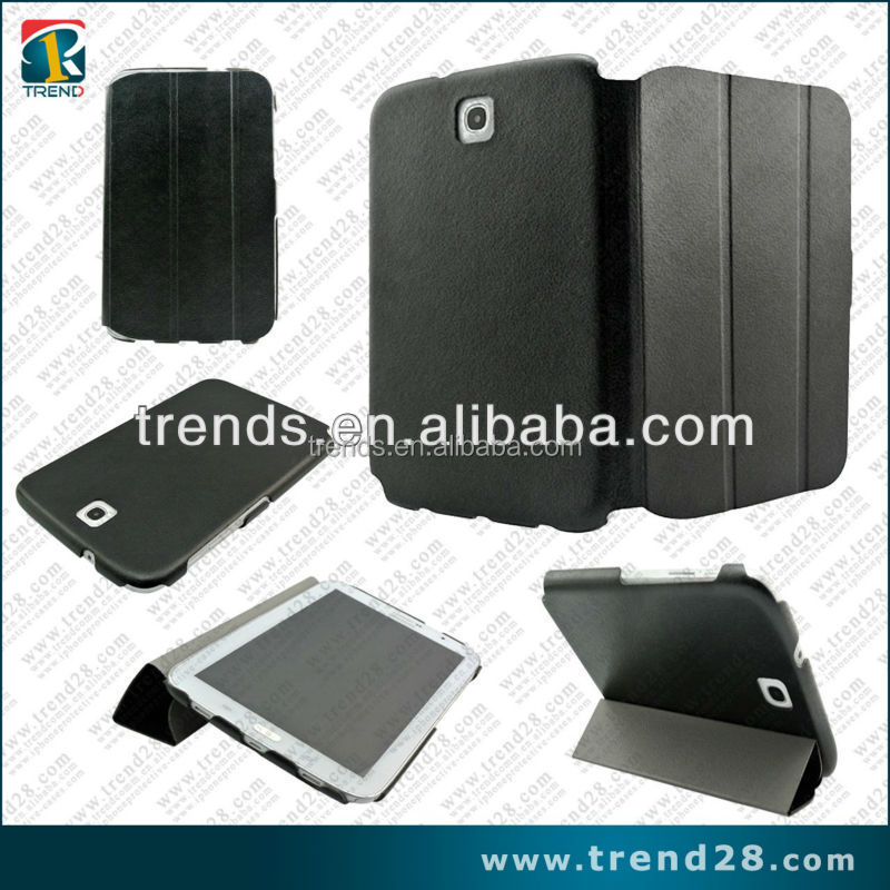 china supplier protective folding stand leather flip case for samsung N5100