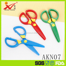Safety Plastic Safe Scissors For Kids Children Cutting Scissors 3 Colors