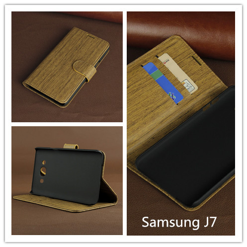 Hot Selling Leather Stand Case For Samsung J7 With Credit Card Wallet Part