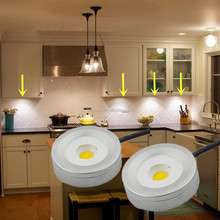 high lumen round led puck lights dimmable 220V cabinet lights