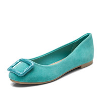 Newest product popular style suede ballet pictures of women flat shoes