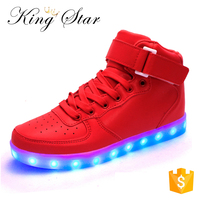 Online Shopping Wholesale Light Up Shoes Sneakers Pu Man Led Footwear