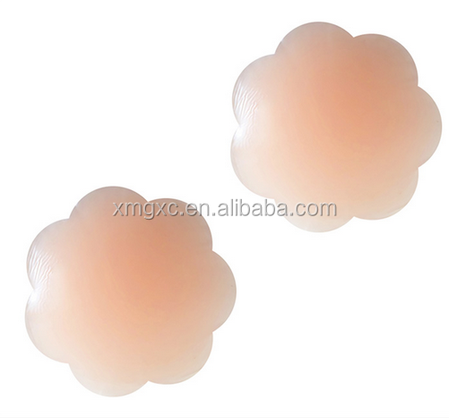 Flower shape silicone nipple cover for party