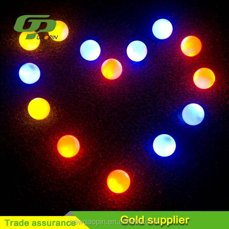 Custom Factory custom 3 ball in one pack imprinted golf led balls