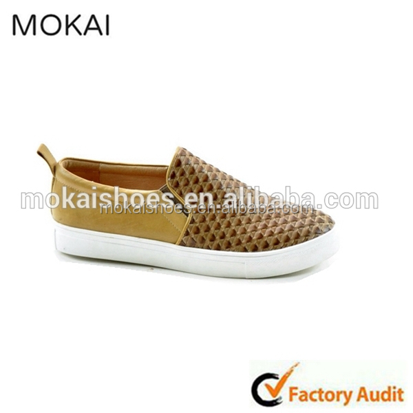 J001-MK2 fashionable golden casual shoes, golden slip-on men