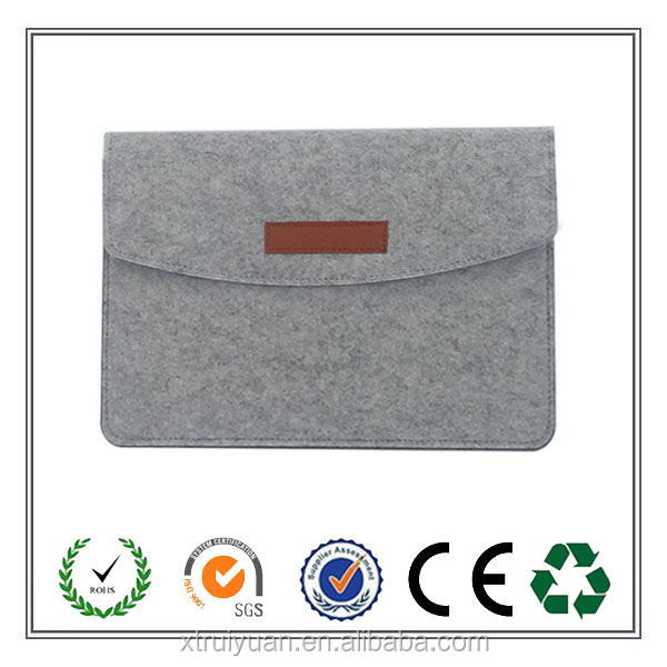2017 alibaba most popular grey felt laptop from China