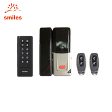 433MHZ Smart Wireless Door Lock With Access Keypads, Remote Controller Especially For Glass Door