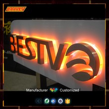 Custom 3D open led sample sales letter lights sign