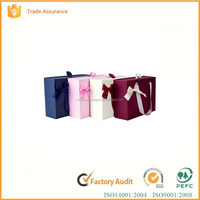 2016 fashion design with your custom logo printed jewelry/powder paper gift box