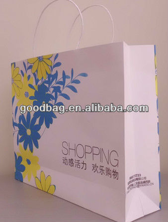 UV Printing wine bottle paper bag,shopping,packing,MJ-0139-K
