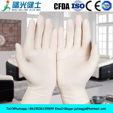 Medical disposable latex examination glove for sale