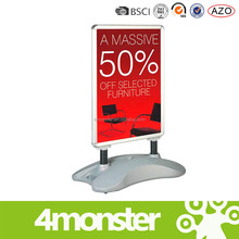 china wholesale outdoor advertising water filled base poster stand