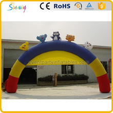 Colorful giant Animal design inflatable arch for advertising