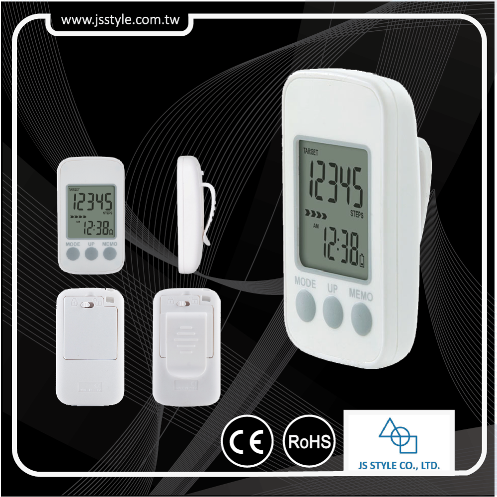 Free Sample High Performance 3D Precise Pedometer With Target Tracking And 7 Days Memory Function