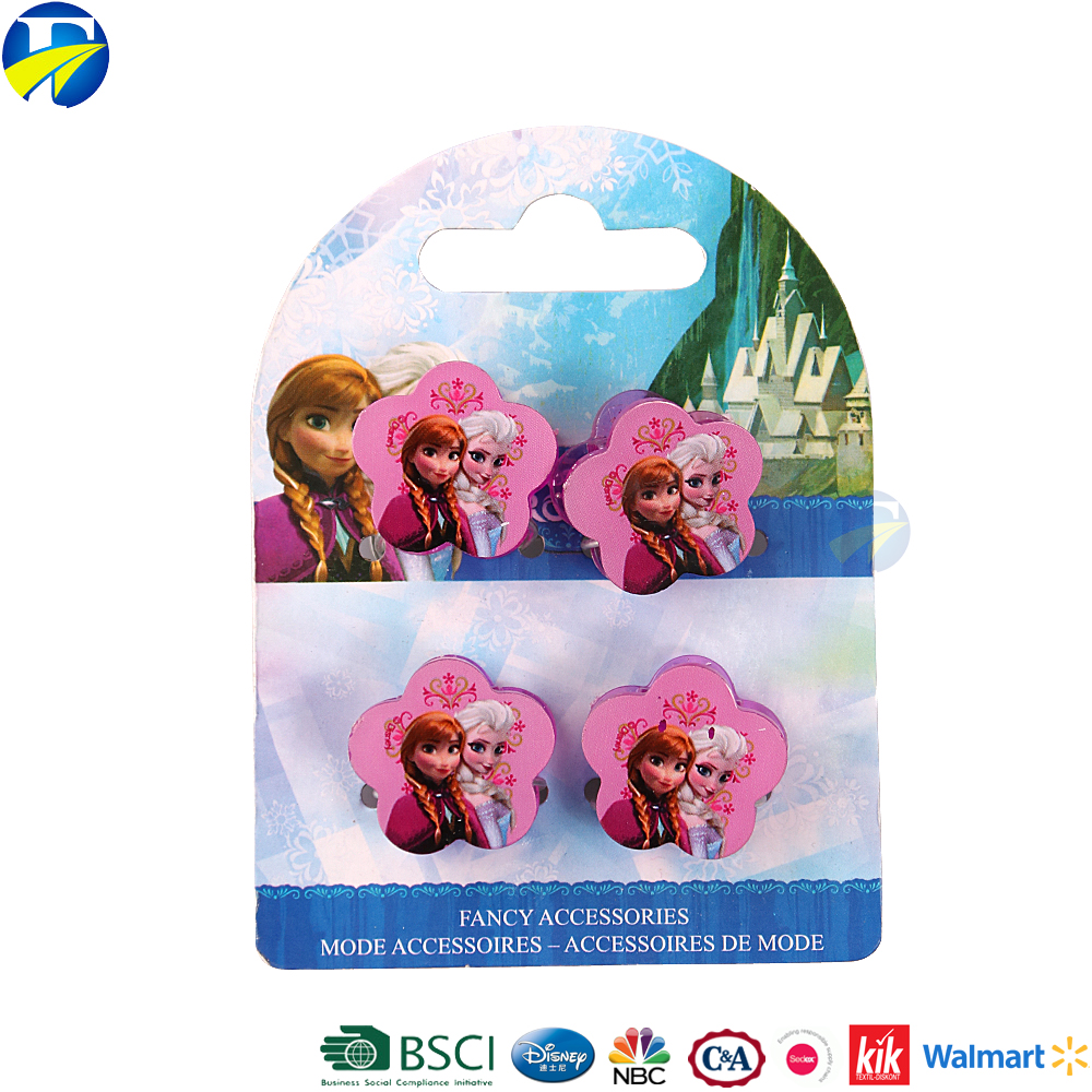 FJ brand frozen flower decorative plastic hair claw clips hair claws for babies