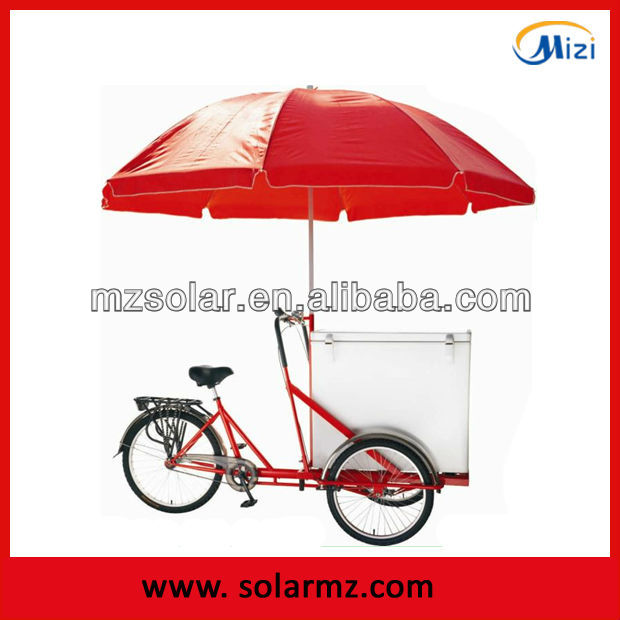 updated ice cream bike, electric tricycle, ice cream storage box