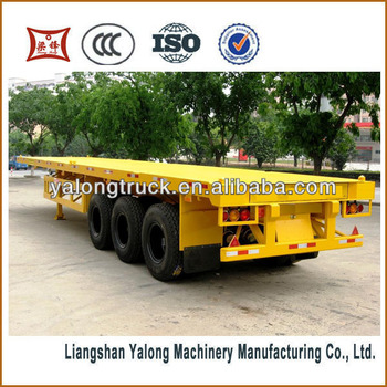 Yalong 3 Axles 40ft 20ft 40 Tons Container Plat Form Semi-trailer Flatbed Semi Trailer