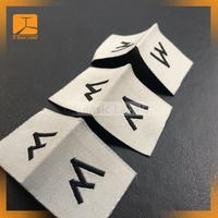 Wholesale Custom Printed Inside Shirt Tags Garment Label Fashion Style Cheap Woven Brand Label Customized