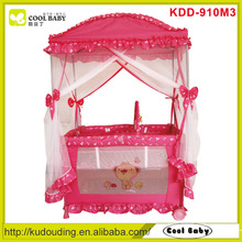 Purple baby playpen with big mosquito net/playard/travel cot