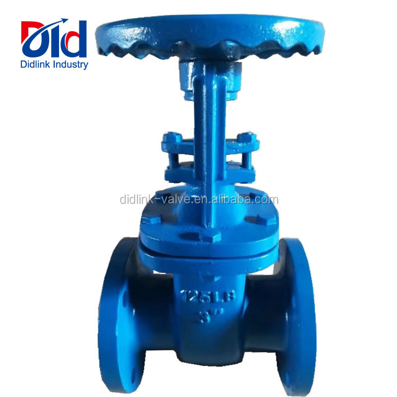 "Cast Iron 3"" Inch 125LB Double Flanged End Stem With Handwheel Water Manual Gear Operated Gate Valve Prices"