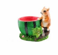 Resin Squirrel and Watermelon Design Succulents Flower Pots for Sale