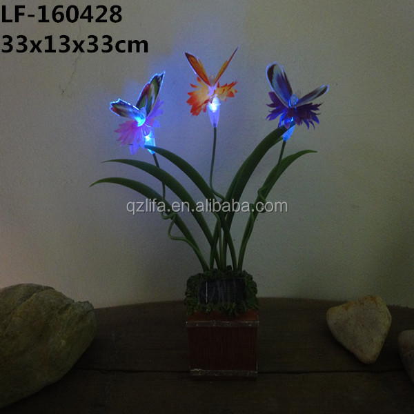 Plastic butterfly optical fibers Plug-in decoration