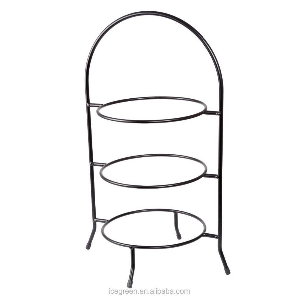 3-Tier Metal Dinner Plate Rack