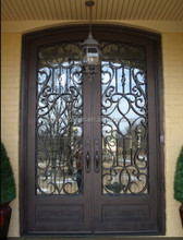 Steel Security Entry Double Doors Main Gate Design Home GYD-15D0389