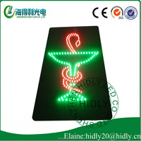 Cartoon package safe delivery DC12V acrylic material 12*24 inch led pharmacy sign