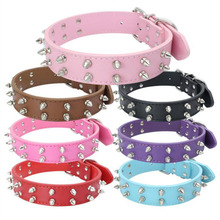 Fashion Spiked Dog Collars Mushroom Rivets Studded Puppy Pet Collar For Big Dogs