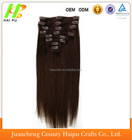 Hot selling grade 6A 200 grams wholesale remy Indian clip in hair extensions