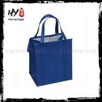 Plastic beer can cooler bag, bottle wine cooler tote bag, outdoor cooler lunch bag