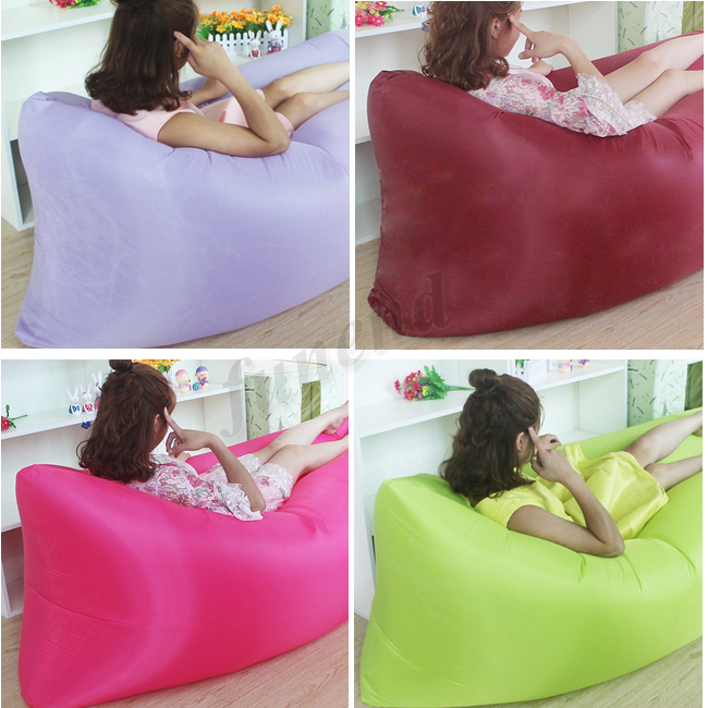 Factory Wholesale Colorful Outdoor Inflatable Sleeping Air Bag Lamzac hangout