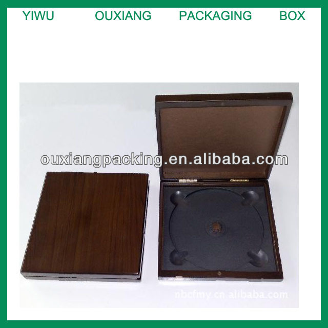 Fancy Square Wooden CD DVD Box