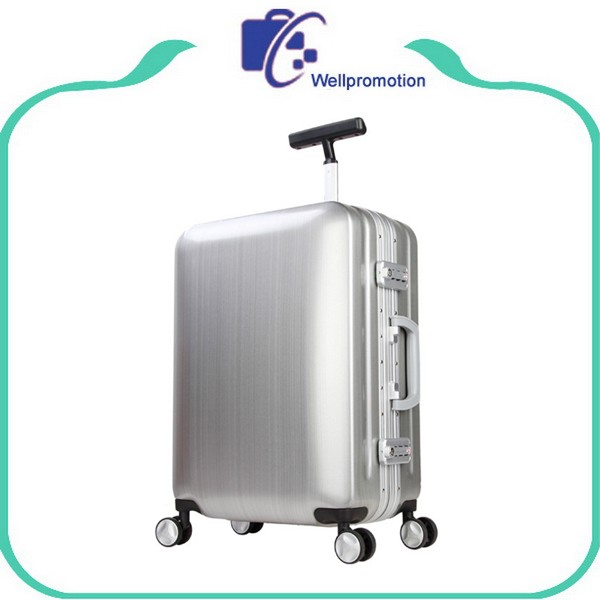 Best 20 24 inch spinner abs+PC aluminum trolley luggage suitcase on wheels